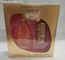 Poseidon gold woman estuche colonia 150 ml + crema hidratante.