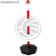 Post bollard red and white plastic chain kit 285x40x840mm 2 units (BB90)