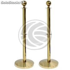 Post extensible cord 320x51x1050mm golden stainless dual 2 units (BB62-0002)