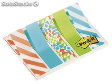 Post-it index pequeños decorados 11,9x43,2mm 684-geo5-eu