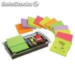 Post-it notas adhesivas z-notes pack 12 blocs+dispensador+notas surtidas