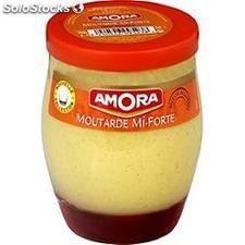 Pot 230G moutarde mi forte amora
