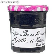Pot 370G confiture de myrtile/cassis bonne maman