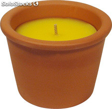 Pot bougie Citronnelle terre cuite mini-Box 12 u /.
