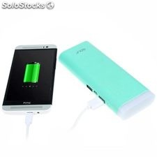 Power Bank 13000 mAh Golf con linterna color azul