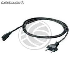 Power Cable IEC-60320 20cm C5 to schuko male (FB90-0002)