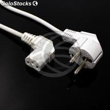 Power Cable iec-60320 C13-layered white-male 3m schuko (CH88)