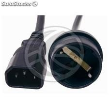 Power Cable IEC-60320 C14 to schuko female 40cm (FA91)