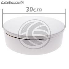 Powered rotating base display 30 cm white lazy susan (SR13-0002)