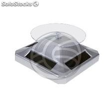 Powered rotating base display 9 cm silvery stand lazy susan (SR41)