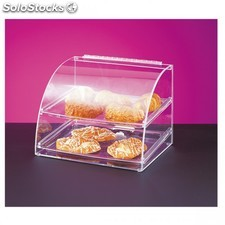Presentoir patisserie arrondi de 2 niveaux 40x38x41 cm transparent acrylique