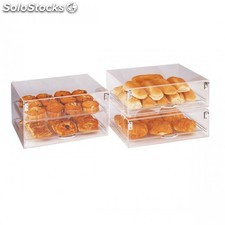 Presentoir patisserie empilable 2 niveaux 47x36x25,5 cm transparent acrylique