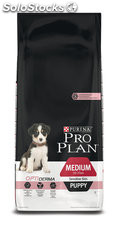 Pro plan puppy medium sensitive skin opti derma 12 Kg.