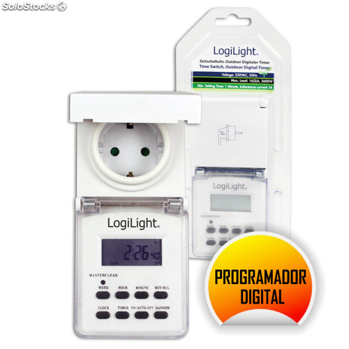 Programador digital enchufe exterior logilight - Enchufe programador digital ...