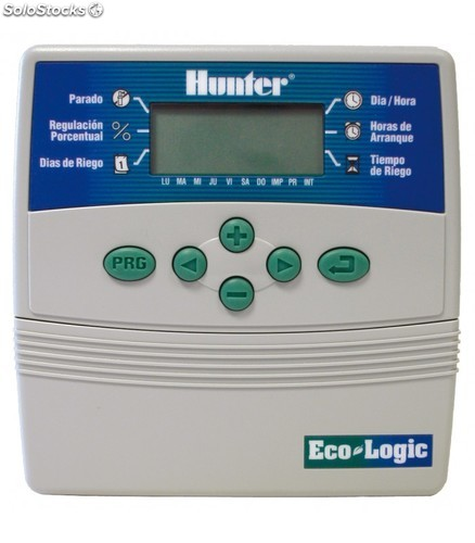 Programador riego hunter ecologic 6 est. interior
