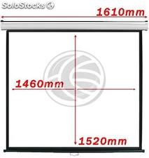 Projection screen 1:1 1460x1520mm white wall DisplayMATIC (OW02)