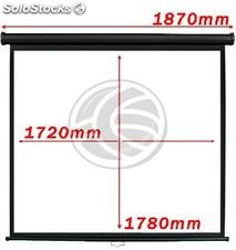Projection screen 1:1 1720x1780mm black wall fiberglass DisplayMATIC PRO (OX03)
