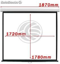 Projection screen 1:1 1720x1780mm white wall DisplayMATIC (OW03)