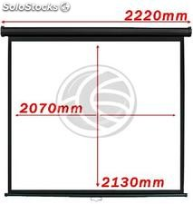 Projection screen 1:1 2070x2130mm black wall fiberglass DisplayMATIC PRO (OX04)