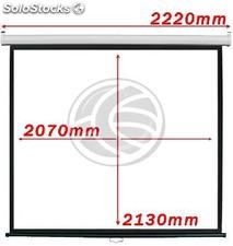 Projection screen 1:1 2070x2130mm white wall DisplayMATIC (OW04)