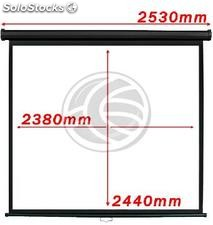 Projection screen 1:1 2380x2440mm black wall fiberglass DisplayMATIC PRO (OX05)