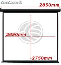 Projection screen 1:1 2690x2750mm black wall DisplayMATIC (OT06)