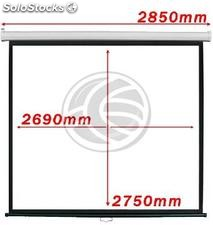 Projection screen 1:1 2690x2750mm white wall DisplayMATIC (OW06)