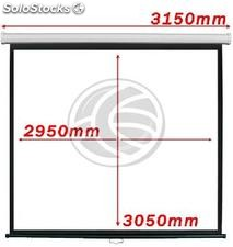 Projection screen 1:1 2950x3050mm white wall DisplayMATIC (OW07)