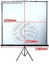 Projection screen with tripod DisplayMATIC 1:1 1210x1270mm (OT11)