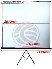 Projection screen with tripod DisplayMATIC 1:1 2070x2130mm (OT14)