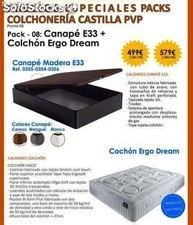 Promocion exclusiva Colchon Ergo Dream+Canape E33 150x190