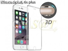 Protector de pantalla 3D de cristal templado color plateado para Apple iPhone 6