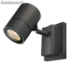 Proyector exterior aplique antracita Manly LED 5W 3000K 300Lm IP55