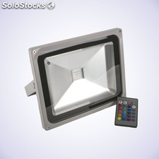 Proyector led 30w rgb gris