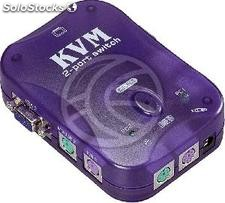 PS2 kvm Switch vga Uniclass 1KVM un mini 2CPU (UN61)