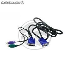 PS2 vga kvm switch Cable type HD15 special miniDIN 3m (CC62)