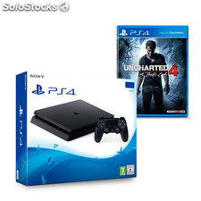 PS4 Slim + Uncharted 4 Sony 9896050 1 tb