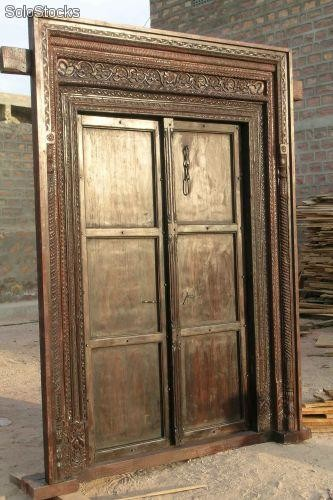 Puertas b squeda and google on pinterest for Puerta doble madera