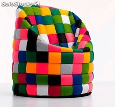 Puff big bean patchwork multicolor