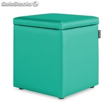Puff Cubo Arcon Polipiel Outdoor Turquesa Happers