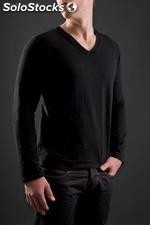 Pull col v homme, 100% coton bio, made in france