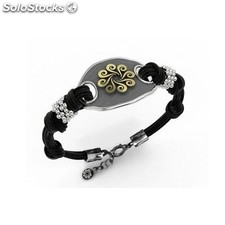 Pulsera bohemme Mujer Plata Negro y gris