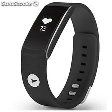 "Pulsera de actividad spc fit pulse 9615n 0.73"" bluetooth 4.0 android /ios negro"