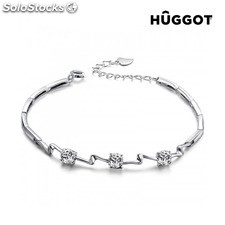 Pulsera de Plata Esterlina 925 con Zirconitas Unequal Hûggot (18 cm)