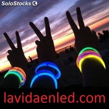 Pulseras luminosas glow pack 12