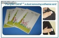 ''Purifier card'' a dust removing adhesive card