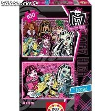 Puzzle 2x100 Monster high educa