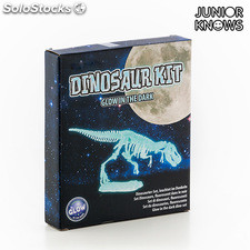 Puzzle 3D Fluorescente Esqueleto de Dinosaurio Junior Knows