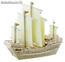 Puzzle Barco Chino 3d