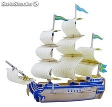 Puzzle Barco Siglo Xviii 3d
